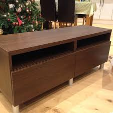 ikea tv unit besta with drawers in walnut colour in bognor