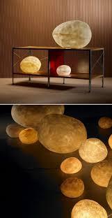 andre cazenave luminous moon rock lamps nova68 modern design
