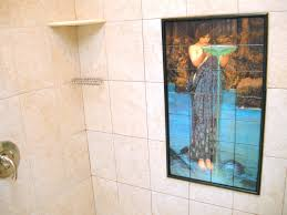 hand made custom shower bath tile mural flekman art bathroom shower tile mural modern