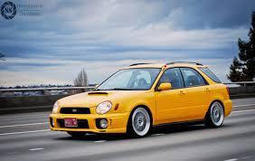 subaru bugeye wagon yellow bug streetshotz