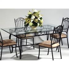 rectangular glass top dining room tables chintaly rectangular glass top wrought iron dining table in antique