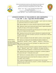 199 2015 minedu matriz de criterios de evaluación del área de matemática ii ciclo ebr 5 año