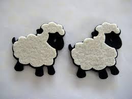 black felt animal ornaments for theme baby