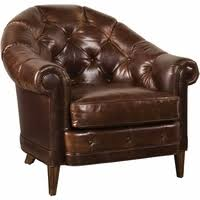 kennedy button tufted walnut genuine leather chesterfield sofa