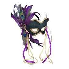 purple feather mardi gras feather mask purple target