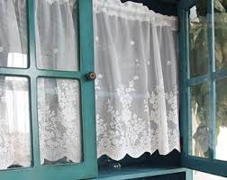 Lace Cafe Curtains Cafe Curtains Etsy