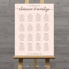 Wedding Seating Signs Printable Wedding Seating Charts Floral Rustic String Lights