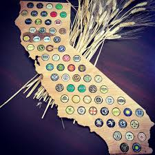 Magnetic Map Of Usa by Finished California Beer Cap Map Swiftmaps Com