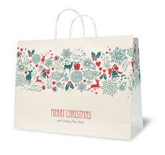 christmas paper bags customised christmas paper bag custom printed christmas paper