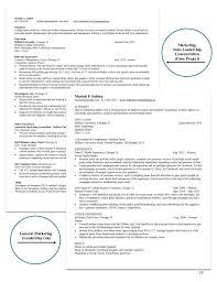 Marketing Major Resume Business Resume Packet 12 10 15