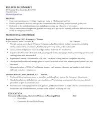 Sample Staff Nurse Resume Nursing Resume Template Certified Emergency Nurse Experienced Mid
