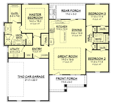 craftsman style house plan 3 beds 2 00 baths 1657 sq ft plan