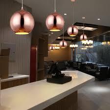 Pendelleuchte Esszimmer Design Holigoo Nordic Globus Lichter Küche Fixtures Silber Gold Kupfer