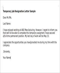 sample temporary resignation letter 5 examples in pdf