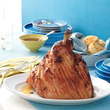 glazed ham with apricot mustard sauce