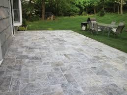 travertine patio pavers silver ash travertine tumbled range sareen stone