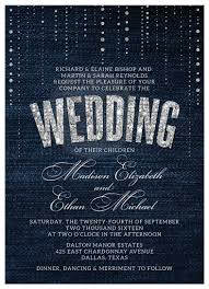 wedding invitations denim u0026 diamonds