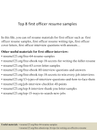 Job Resume Sample For First Job by Top8firstofficerresumesamples 150516112023 Lva1 App6892 Thumbnail 4 Jpg Cb U003d1431775270