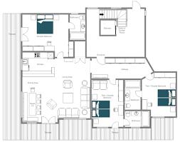 Cote D Azur Floor Plan by Catered Ski Chalet St Anton Apartment Alisma Leo Trippi