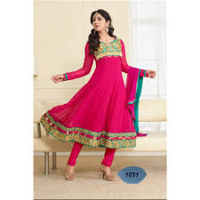 pink colour combination dresses buy designer georgette pink and green colour combination semi