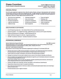 Resume Objective Statements Sample by 9 Aircraft Maintenance Technician Resume Resume Airframe And