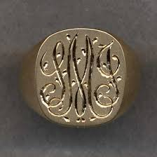 gold monogram ring engraved jewelry monogram rings monogram rings