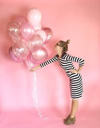 custom balloon bouquet delivery pink balloon bouquet confetti balloons pink balloons