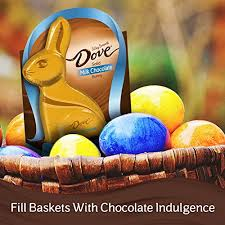 s chocolate bunnies dove milk chocolate candy solid easter bunny box 4 5