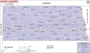 North dakota road map north dakota highway map