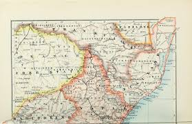 South Africa Political Map by File 1895 Political Map Of South Africa From The Castle Line