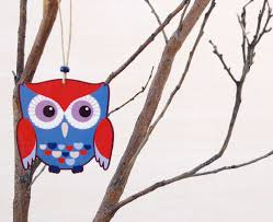 sweet nest design shop blue owl ornament