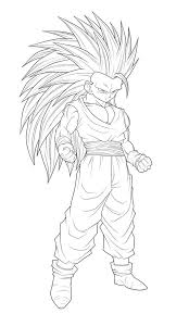 goku super saiyan 5 coloring pages for kids and for adults