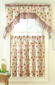 Apple Curtains For Kitchen by Country Calico Tier Curtains For The Kitchen Home Things