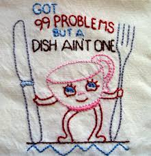 hand embroidered dish towel katie cannon these are the dish