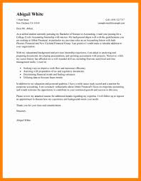 accounting internship cover letter sample 7 example cover letters