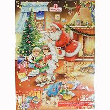santa s gift list german advent calendar with