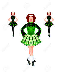 halloween dance clip art cheerful and beautiful female irish dancers royalty free cliparts