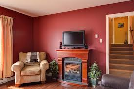 view in gallery inviting family room featuring a white and orange
