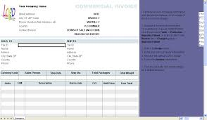 example commercial invoice commercial invoice template uniform invoice software