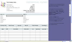 commercial invoice template uniform invoice software