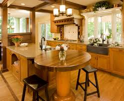 kitchen design ideas with unfinished wooden cabinets and round rustic