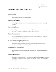 doc 600730 training documents templates u2013 10 training manual