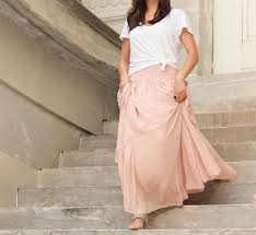 Blush Chiffon Maxi Skirt Wear Now And Into Fall The Chiffon Maxi Skirt 3 Ways The Mom Edit