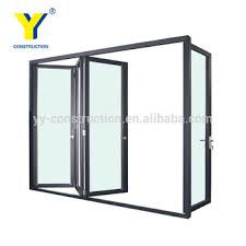 Inward Opening Shower Door Three Panel Sliding Glass Door Inward Opening Folding Door Bi