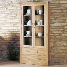 Oak Glazed Display Cabinet Wooden Display Cabinets Online Space U0026 Shape