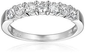white diamond rings images 14k gold 7 stone diamond ring 3 4 cttw h i color i1 jpg