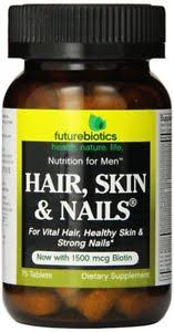 futurebiotics hair skin and nails supplement for men 75 tablets