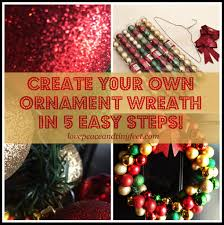 diy ornament wreath in 5 easy steps