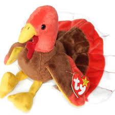 ty beanie baby gobbles thanksgiving turkey retired nwt beanie