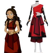 Aang Halloween Costume Aliexpress Buy Avatar Airbender Katara Cosplay